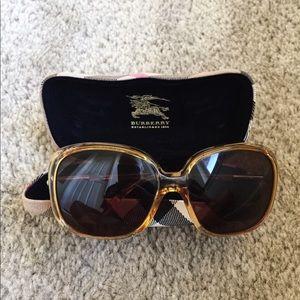 Women's Burberry Yellow Sunglasses